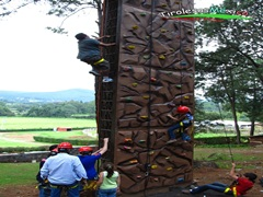 pared de escalada en canopy